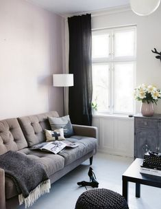 A Danish sitting room transforms from summer to autumn. Tina Fussell.