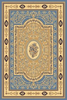 Rugs America New Vision French Aubusson 1365 Light Blue Area Rugs Light Blue Area Rug, Blue Area Rugs, Wall Carpet, Rugs On Carpet, Persian Pattern, Affordable Rugs, Large Area Rugs, Miniature Crafts, Carpet Design