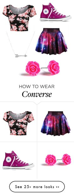 """""""Untitled #159"""" by saskiabaird on Polyvore featuring Converse and Adina Reyter"""