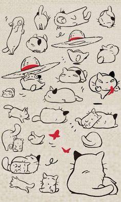 'Konyara' cat design by Toshio Suzuki, storyboard by Katsuya Kondo