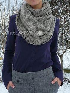 Cute crochet cowl Free pattern Grey