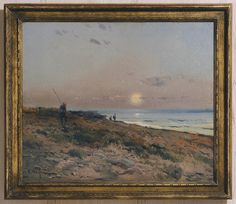 Eliseo Meifrén Roig. Puesta de sol. Óleo sobre lienzo. Firmado. 50 x 60 cm.  Brunk Auctions 45141a261b8