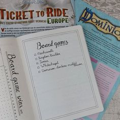Last week I've posted my board game wins spread. I got a lot of comments about different games to try. To remember all the games I want to try or buy I made a list! Do you know another game to write down? Let me know!     #Regram via @planningroutine