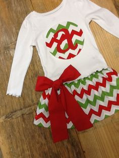 Girls Christmas outfit. Personalized Initial by EverythingSorella, $48.50