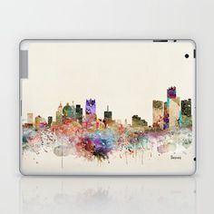 detroit michigan skyline Laptop & iPad Skin by bribuckley Detroit Michigan, Global Art, Best Artist, Laptop Skin, Custom Design, Ipad, Skyline, Artists, Artist