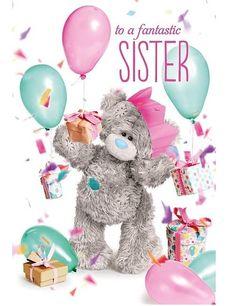 £3.95 GBP - Me To You To A Fantastic Sister 3D Hologram Birthday Card Tatty Teddy Bear #ebay #Home & Garden