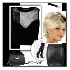 """Black elastic bodycon PU leather skirt"" by s-o-polyvore ❤ liked on Polyvore featuring Usagi"