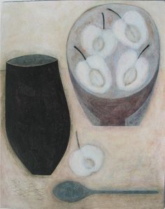 Still Life with Apples and Dark Spoon, (2007) by Vivienne Williams