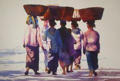Очарование Востока вакварелях художника Myoe Win Aung.