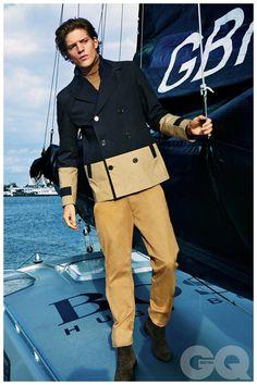 Jonatan Frenk Goes Nautical in Hugo Boss Mens Spring 2015 Styles