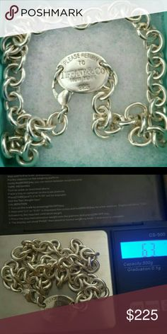 T & Co vintage RETURN TO TIFFANY'S choker ❌FIRM❌ Received as inheritance Just being honest......Tiffany salesperson said it was an older piece and most likely authentic as most links are soldered shut. 🔹Polished by Tiffany's in Tucson, they wouldnt       polish if fake 🔹.925 STERLING SILVER 🔹Heavy piece (approx 64 grams), authentic weight NO TRADES NO LOWBALL OFFERS ❌PRICE IS FIRM❌ Tiffany & Co. Jewelry Necklaces