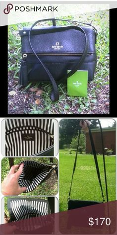 Kate spade Crossbody Med. Size Black. Like new. No spots, or stains, No ripps. kate spade Bags Crossbody Bags