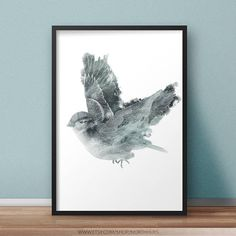 Sparrow Poster! Digital Prints, Digital Art, Bird Poster, Poster Prints, Art Prints, Your Image, My Images, Watercolor, Etsy