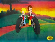 BEAVIS AND BUTTHEAD MOTORCYCLE GANG Animation Sericel Cel