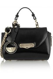 Versace CollectionGlossed-leather shoulder bag
