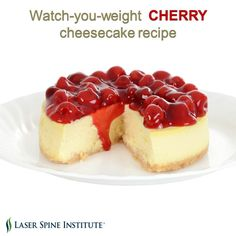 Cherries are packed with antioxidants and taste great on top of cheesecake. Give this simple recipe a try.