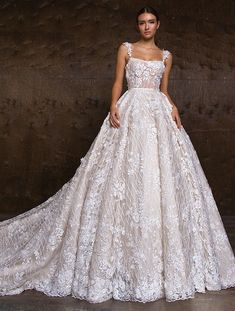 """Crystal Design 2018 Wedding Dresses — """"Royal Garden"""" & Haute Couture Bridal Collections crystal design 2018 sleeveless lace strap straight across full embellishment ball gown wedding dress royal train (hloya) mv — Crystal Design 2018 Wedding Dresses Crystal Wedding Dresses, Dream Wedding Dresses, Designer Wedding Dresses, Bridal Dresses, Wedding Gowns, Lace Wedding, Mermaid Wedding, Wedding White, Couture Wedding Dresses"""
