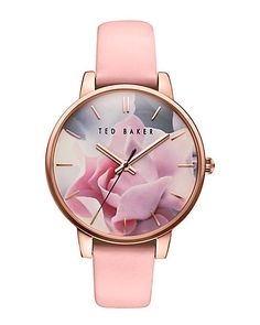 Ladies Ted Baker Katie Pink Leather Strap Watch - Michaels Online - We are an Authorised Ted Baker UK Online Watch Retailer - Check out our collection of quality Ted Baker Watches - FREE UK Delivery is included on all orders Trendy Watches, Cute Watches, Unusual Watches, Wrist Watches, Ted Baker Watches, Pink Watch, Watch 2, Ted Baker Womens, Swiss Army Watches