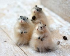 Brown Animal Art Sculpture Figurines Hamster by OlgaMareeva
