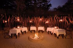 Boma at the Camp Fig Tree Colonial African Lodge