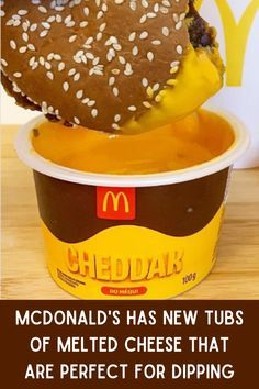 McDonald's Has New Tubs Of Melted Cheese That Are Perfect For Dipping Burgers McDonald's is famous for its iconic fast food and famous commercials, and as of 2020, it's also famous for selling tubs of delicious melted cheese. That's right, forget ketchup and the nugget sauces, it's all about the new McDonald's cheese tubs. We haven't tried a tub yet, but can honestly say, we're already lovin' it.