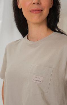 Rahkasammal T-shirt soft grey Stand Collar Shirt, Collar Shirts, Leftover Fabric, Light Blue Color, Baltic Sea, Sustainable Clothing, Knitwear, Button Up Shirts, Classic T Shirts