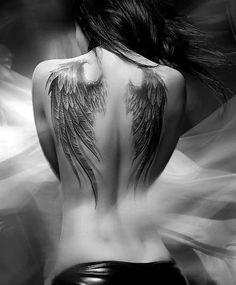 Znalezione obrazy dla zapytania tatuaż skrzydła szablon