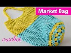 Crochet Beautiful Market Bag Free Pattern [Video] - ilove-crochet