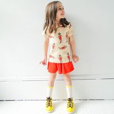 Can't get over how awesome this Mini Rodini Pirate Tee is paired with A for Apple Kim Shorts and Native Fitzsimmons boots. Overflow of cuteness!