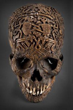 Crâne Tibétain Sculpté