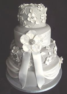 Four Tier Dress Cake by Special Day Cakes