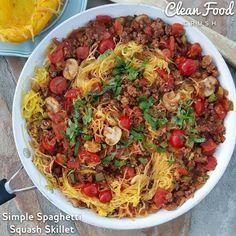 Simple Spaghetti Squash Skillet | Clean Food Crush