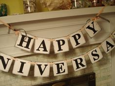 HAPPY ANNIVERSARY Party Banner Photo Prop by anyoccasionbanners, $33.50