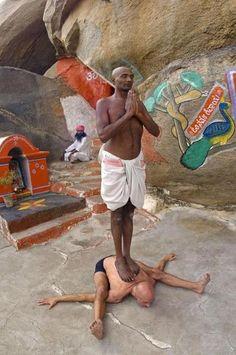 omg....Heeeeelp! Kurmasana (Tortoise Pose) in India