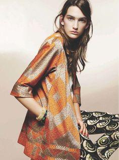Phulkari textile jacket   ELLE Canada #geometrics