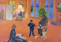 The Concert . painting by Christiane Kubrick