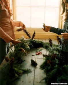 DIY garland winter wedding decoration