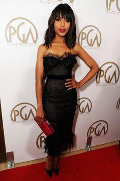 Kerry Washington at the Producers Guild Awards on Jan.26,2013