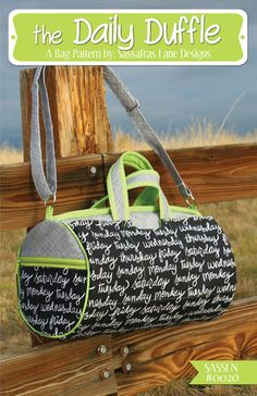 The Daily Duffle - Bag Pattern – Sassafras Lane Designs