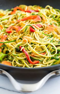 Thai Stir Fried Curry Zucchini Noodles | Get Inspired Everyday!
