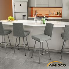 Shop original Amisco Linea Swivel Stool 41320, Free Shipping and No Tax at AllModernOutlet.com