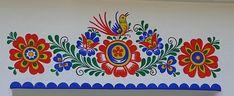 ŽENA-IN - Lidové ornamenty: Kýč, nebo umění? Polish Folk Art, Scandinavian Folk Art, Wall Ornaments, Mural Wall Art, Painted Doors, Painting Inspiration, Flower Patterns, Illustration Art, Line Art