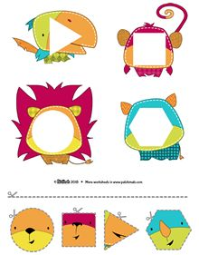 Scissors practice: Cut out the shapes and paste them to complete the Patchimals. // Tijeras y formas: Recorta y pega las formas para completar los Patchimals. Motor Skills Activities, Autism Activities, Preschool Learning Activities, Preschool Worksheets, Toddler Activities, Preschool Activities, Teaching Kids, Kids Learning, Kids Education
