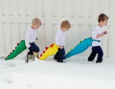 Dragon/Dinosaur Tails! Way too cute - even my girls would adore these!