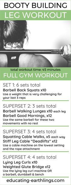 Booty Building Leg Workout, HIIT cardio, leg day, gym workout, leg workout for women, weight lifting, bodybuilding, women's fitness