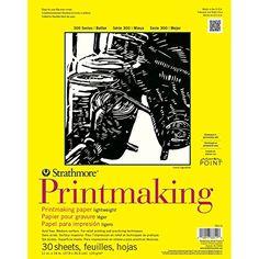 "Strathmore Printmaking Paper Pad 11""X14""-30 Sheets Strath..."