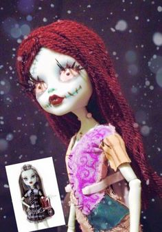 This is really cool! They took one of those Monster High dolls and repainted it for Sally!