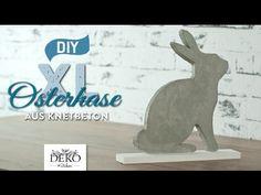 DIY: stylischer XL-Osterhase aus Knetbeton [How to] | Deko Kitchen - YouTube