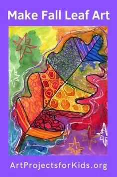 Leaf Pattern Watercolor Resist · Art Projects for Kids Fall Art Projects, Projects For Kids, Autumn Art, Autumn Leaves, September Art, Learn Art, Teaching Art, Teaching Ideas, Watercolor Pattern