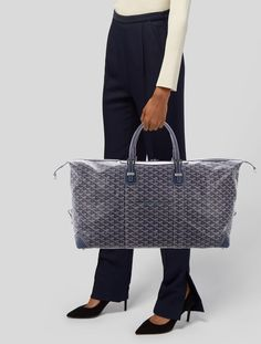 Since 1792, the house of Goyard has been a beacon of luxury and high-quality craftsmanship. For centuries, the family-run brand has created impeccable travel pieces for the discerning jetsetter. Made from durable, waterproof canvas handpainted in the Goyardine pattern, the brand's timeless steamer trunks, luggage and iconic St. Louis totes are perennial favorites in the luxury world. Goyard Handbags, Goyard Tote, Tote Bag, Fendi Peekaboo Mini, Medium Tote, Luxury Consignment, Leather Bag